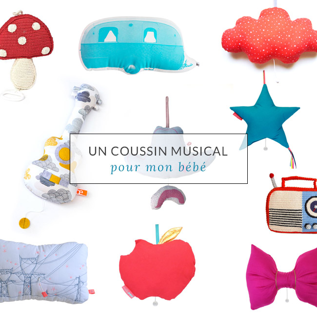 coussin musical Un coussin musical pour mon bébé | Poligom coussin musical
