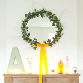 {DIY + CONCOURS} Un miroir / Couronne de Noël