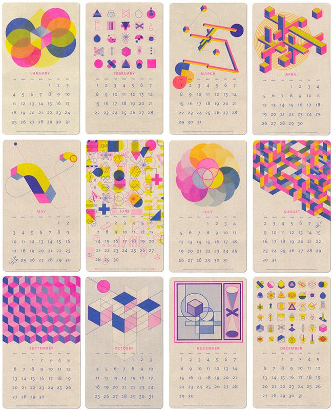Un calendrier pour 2015 poligom - Calendrier design ...