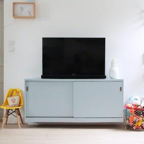 Un meuble TV en Parma Gray
