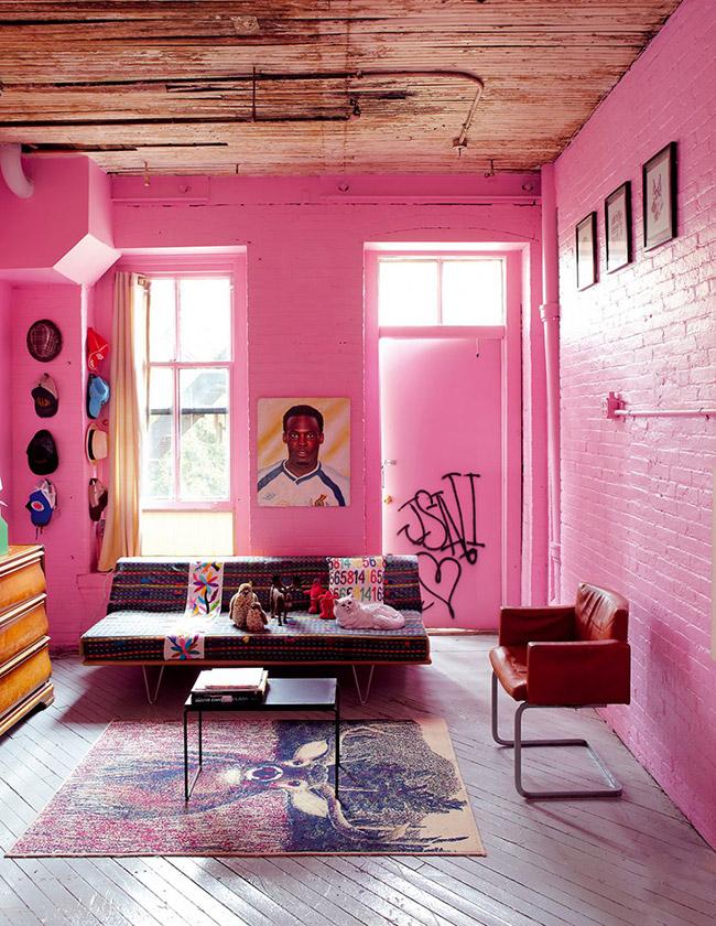 Home challenge un mur de briques poligom - Deco mur interieur maison ...
