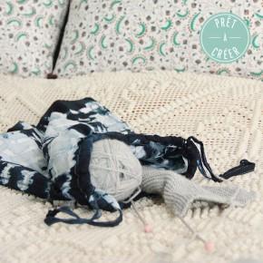 Un sac en tissu tie and dye avec Prêt-à-Créer