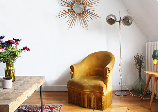 Obsessiondéco Le Fauteuil Crapaud Poligom - Fauteuil crapaud jaune